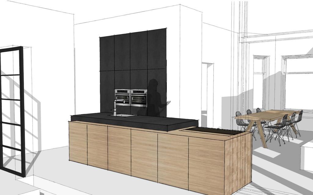 massief houten keuken te Vries