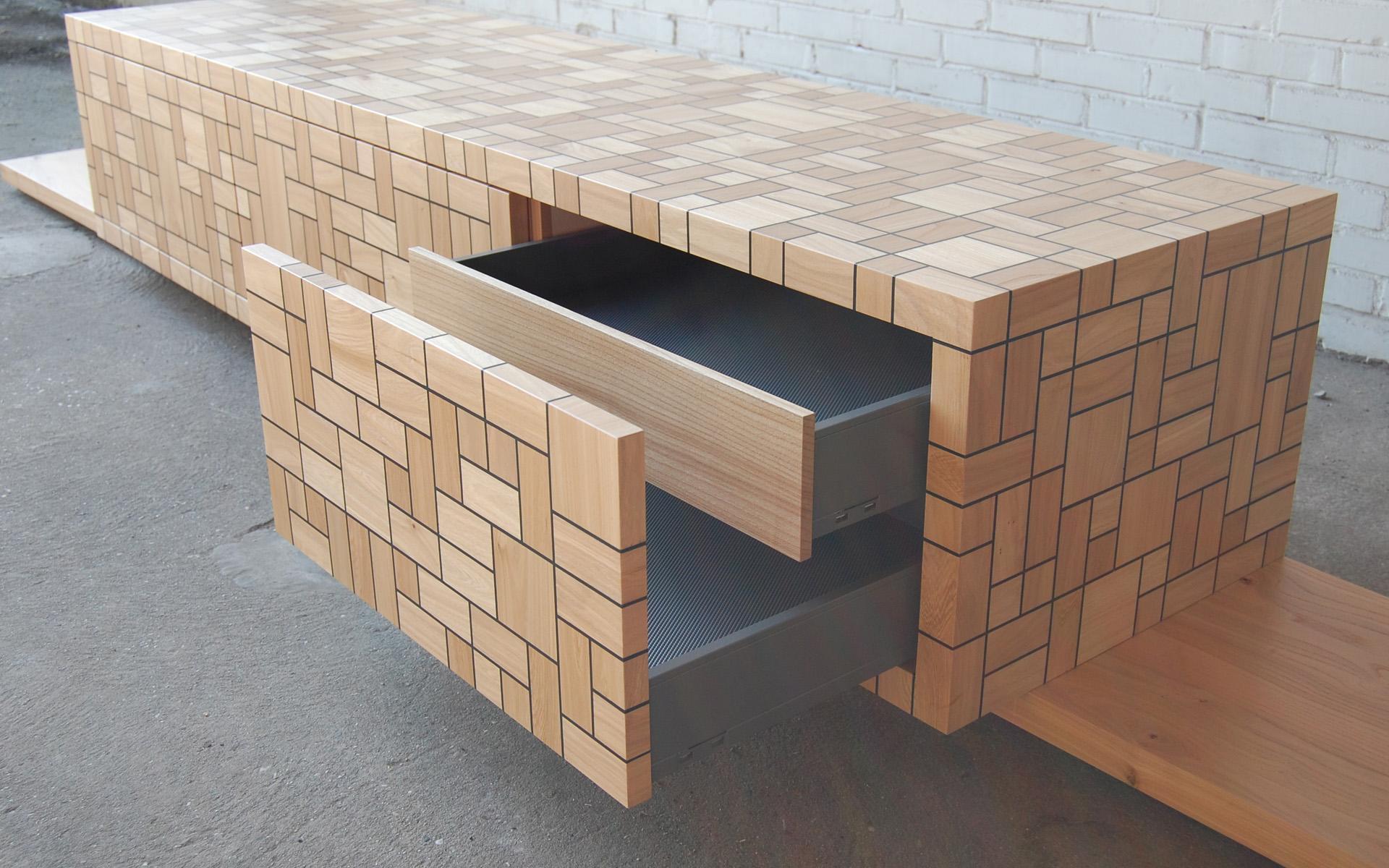 Eiken Keuken Enter : TV meubel Iepenhout PXL2038 Studio SOOL