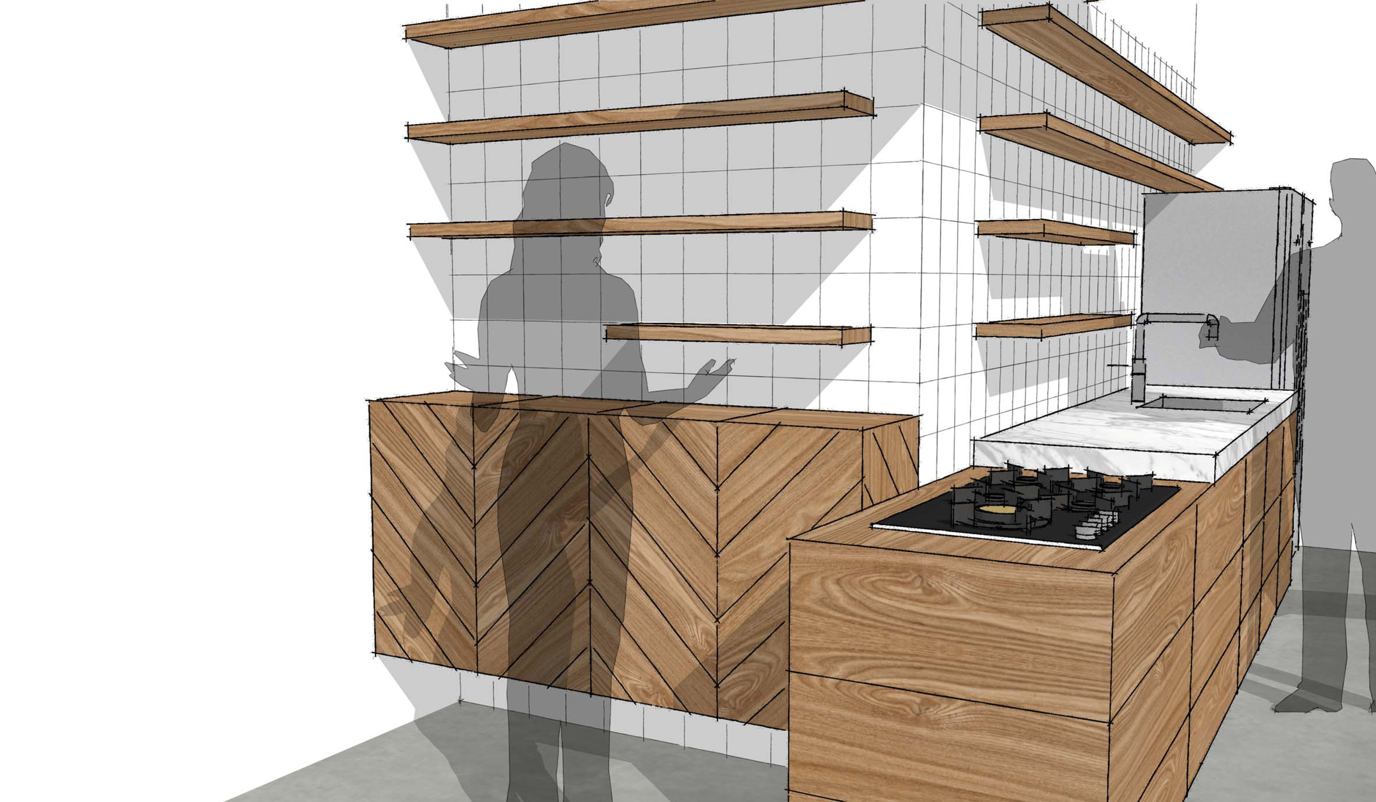 Houten keuken te breda studio sool meubels - Redo keuken houten ...