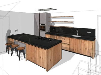 Keuken van Appelhout te Bovensmilde