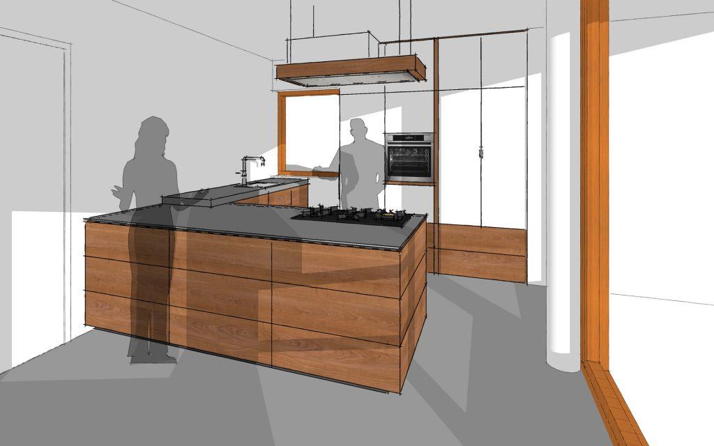 Impressie houten keuken te Groningen
