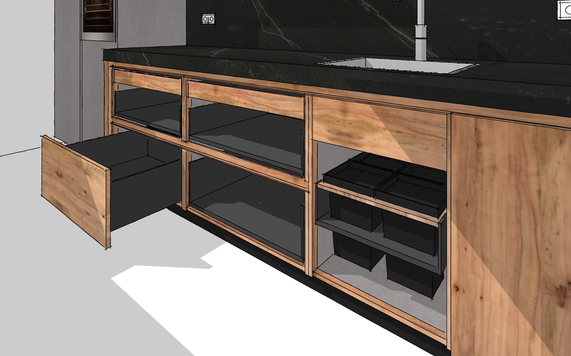 Keuken van appelhout te bovensmilde studio sool - Meubels studio keuken ...