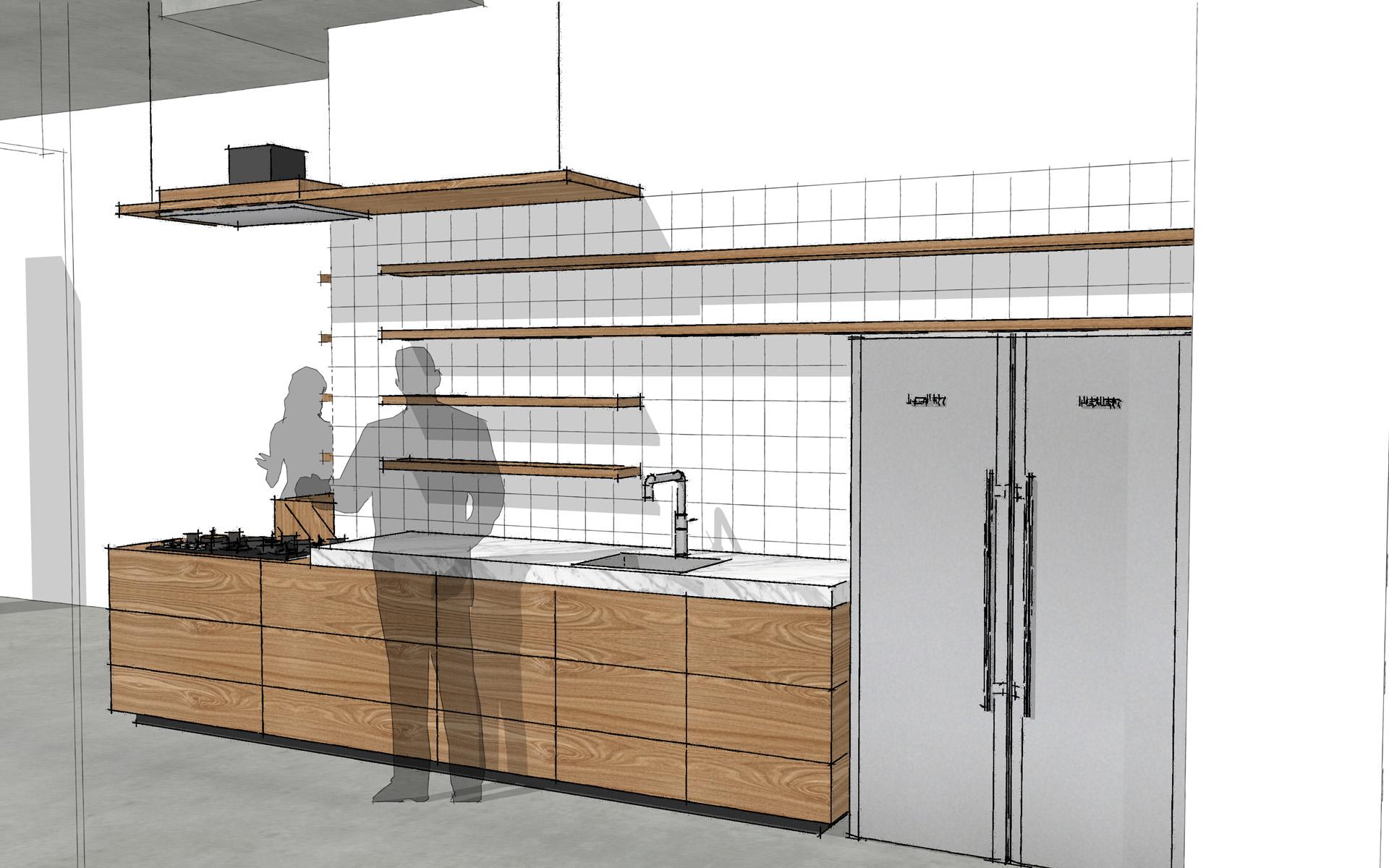 Eiken Keuken Enter : Iepenhouten keuken te Breda Studio SOOL