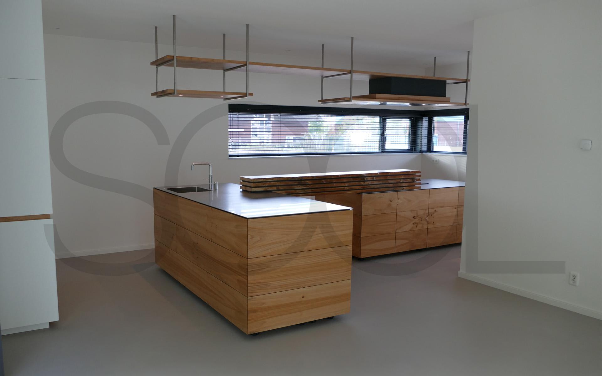 Iepenhout maatwerk keuken te Groningen