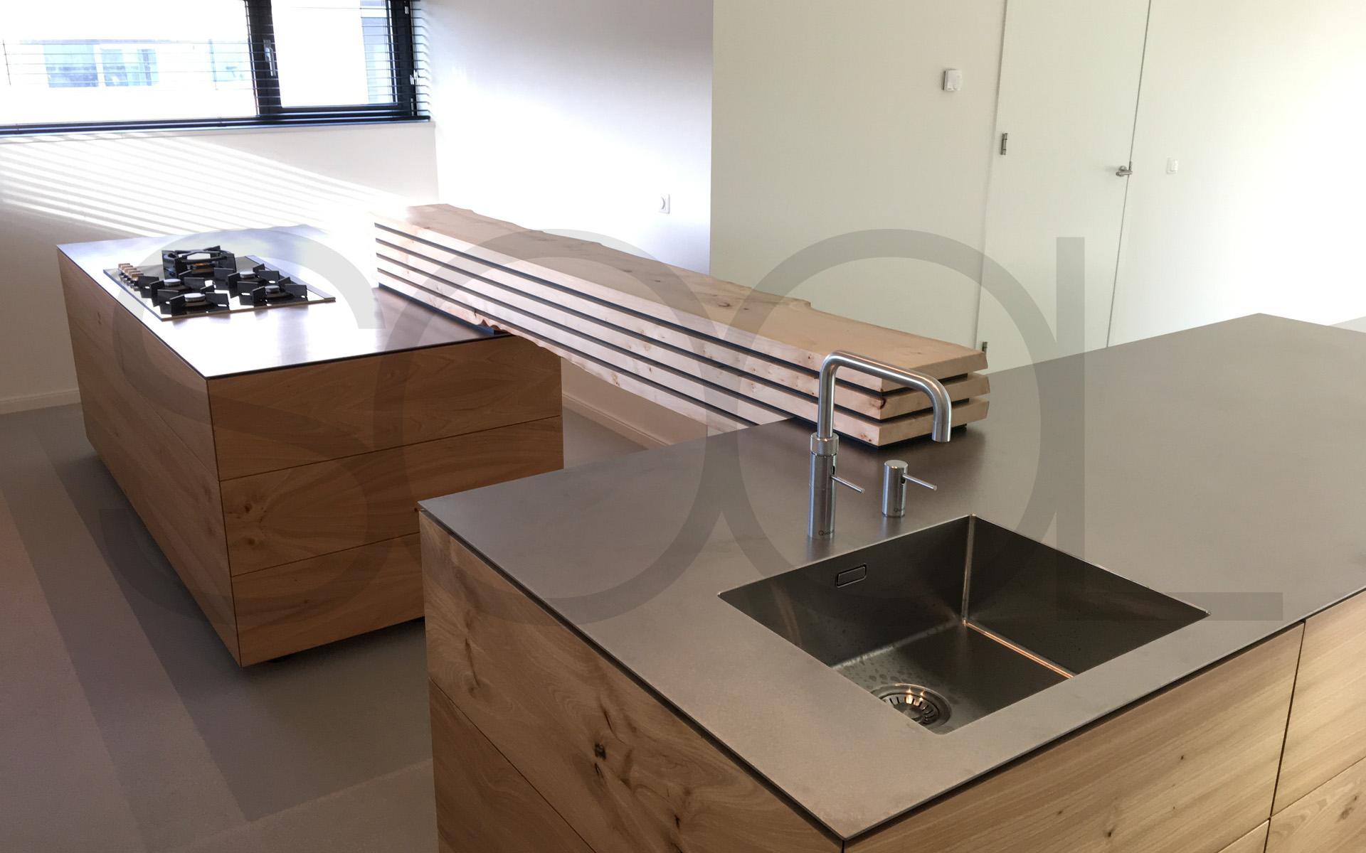Iepenhout keuken te groningen opgeleverd studio sool - Mini keuken voor studio ...