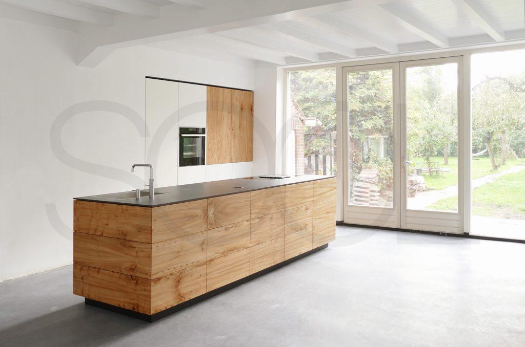 Voorbeeld houten keuken - Westerparkstate